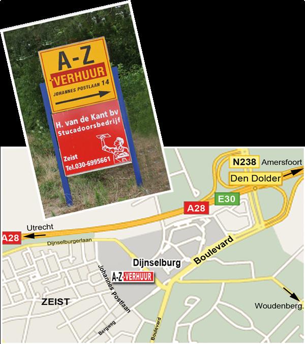 locatie AZ Verhuur Zeist
